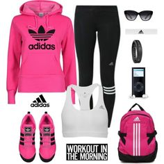 adidas apparel by gallant81 on Polyvore featuring adidas, Garmin and Elizabeth and James