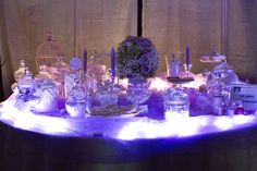 Matrimonio romantico stile cenerentola confettata con luci