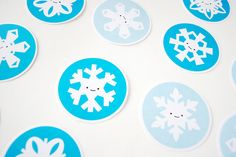Printable snowflake memory game by wildolive, via Flickr