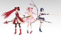 TDA Madoka Magica. Madoka, Kyouko, Sayaka DL by Skary66.deviantart.com on @DeviantArt