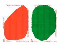 Exposition Benjamin Desoche on Behance Cover Design, Book Design, Layout Design, Print Design, Design Trends, Graphic Design Posters, Graphic Design Typography, Graphic Design Inspiration, Poster
