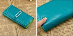 site for more info Clutch Wallet, Pu Leather, Corner, Green