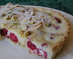 White Chocolate-Raspberry Tart, With Almonds And Pistachios Recipe ...