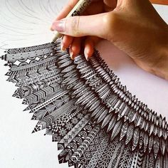 Drawing art doodles zentangle patterns 31 Ideas for 2019 Doodle Art, Zen Doodle, Doodle Drawings, Zentangle Drawings, Mandala Drawing, Doodles Zentangles, Zentangle Patterns, Art Patterns, Color Patterns