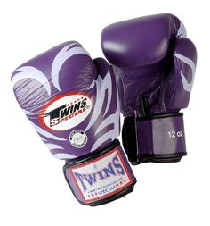Twins Special Boxing Gloves (Tattoo Purple White)