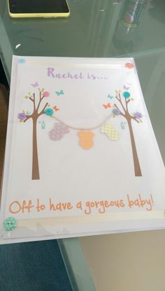 Maternity leave card