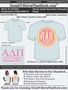 Alpha Delta Pi 510691 R1 ................................................... ................................................... WORK  1 ON 1 with a member of our design team until your  T-Shirt ideas are perfect.... and ALWAYS them on in time (before you even need them) at the price you want! ......................................................................................................  JUST CLICK THIS IMAGE TO GET STARTED!