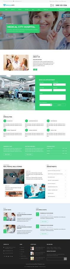 Medical City is a Responsive Bootstrap HTML #Template for #Hospital, Health Care, Clinic, Nursing and Doctor #website. Download Now!