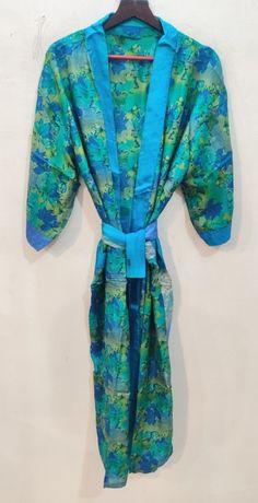 Silk Robe Long, Long Kimono, Kimono Dress, Silk Kimono, Floral Kimono, Indian Silk Sarees, Pure Silk Sarees, Cotton Saree, Festival Outfits