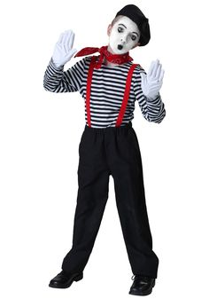 AmazonSmile: Big Boys' Mime Costume: Clothing