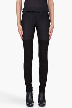 SURFACE TO AIR Skinny Black Horizontal V1 Jeans