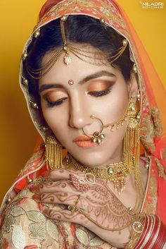 Karel - The Indian Bride by NiladriChatterjee Septum Ring, Indian, Bride, Wedding, Fashion, Maquiagem, Mariage, Moda, Bridal