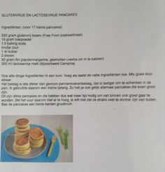 Recept voor fodmap proof american pancakes. Credit: Laura's Bakery