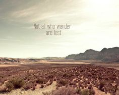 Not all who wander are lost, Southwest, inspirational print, Adventure travel, mint green, beige, Mountains 8x10. via Etsy.