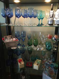 Wine glasses galore! Wine Glass, Glasses, Tableware, Shop, Gifts, Dinnerware, Presents, Eyeglasses, Tablewares