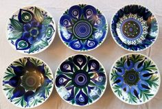 Vintage 1960s Arabia Finland Set of 6 Small Bowls Finnish