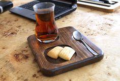 Ahşap çay tabağı, Ahşap sunum, tahta tabak, tahta çay sunum - Mutfak 372213 | zet.com