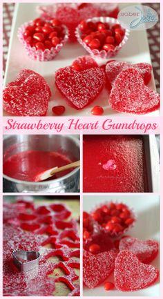Strawberry Gumdrop Hearts Recipe - A Valentine's Day Treat - Sober Julie