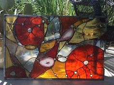 Stained Glass Panels, Stained Glass Art, Glass Wall Lights, Brazilian Agate, Window Panels, Suncatchers, Clear Glass, Abstract, Artwork