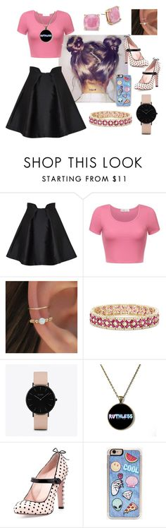 """""""Girl look2"""" by eliskaozanikova ❤ liked on Polyvore featuring Paper London, Effy Jewelry, CLUSE, RED Valentino, Zero Gravity and Kate Spade"""