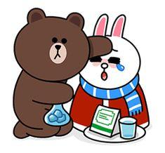 Line Cony, Cony Brown, Cute Love Gif, Brown Line, Cute Love Cartoons, Line Friends, Cozy Winter, Line Sticker, Bento