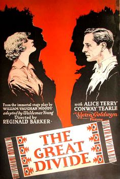 The Great Divide (1925) Alice Terry, Conway Tearle - silent film poster