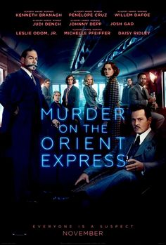 """""""Murder on the Orient Express"""" (2017 dir. by Kenneth Branagh) Hercule Poirot, the best detective in the world decides to leave on the Orient Express. The train accidentally gets stopped because of the strong snow. Little did he know that a murder was planned and that a person on this train was able of commiting such crime. Will he solve this murder before the train starts working again?"""