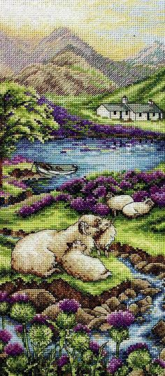 Anchor - Counted Cross Stitch Kit - Highlands Landscape