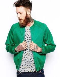 Uniforms For The Dedicated Bomber Jacket - green on shopstyle.co.uk