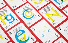 Vibrant Playing Cards Teach You About Typefaces, by Russian graphic designer Anastasia Musaeva. http://designtaxi.com/news/369383/Vibrant-Playing-Cards-Teach-You-About-Typefaces-Their-Unique-Traits/?interstital_shown=1