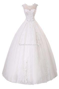 Women Lace Beading Floor Length Bridal Gown Wedding Dress Custom Size http://www.ikmdresses.com/Women-Lace-Beading-Floor-Length-Bridal-Gown-Wedding-Dress-Custom-Size-p90686