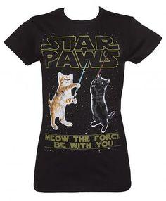 Ladies Star Paws Parody T-Shirt from #TruffleShuffle xoxo