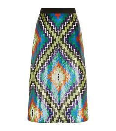 ss17 Andrew Gn Sequin Kilim Midi Skirt available to buy at Harrods. Shop women's designer fashion online and earn Rewards points.