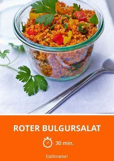 Leckerer Bulgur: einmal 30 Minuten kochen und das Meal Prep für die Woche ist fertig!