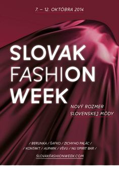 Rukou typeface in use for slovak fashion week! Design: Michal Macko