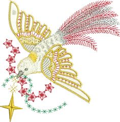 Sue Box Creations | Download Embroidery Designs | 04 - Peace Dove