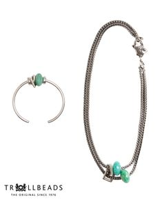 Emerald Necklace and Bangle Bracelet by Trollbeads - Shop the 2015 Spring Collection at www.trollbeads.com #newhorizons #handcrafted