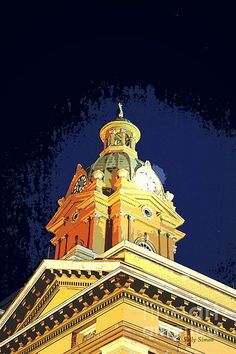 Golden Glow of the Coweta County courthouse in Newnan GA by SSimon