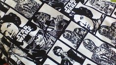 Star Wars B&W print fabric. Currently available in Julie dresses. Vintage Patterns, Printing On Fabric, Star Wars, The Originals, Stars, Artwork, Dresses, Women, Vestidos