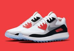 #sneakers #news  The Nike Air Max 90 Golf Shoe Goes Classic Infrared