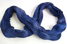 Blue and Grey tones Merino wool hand dyed blue by feltbasic