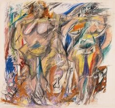 Willem de Kooning, Two Women with Still Life,1952 on ArtStack #willem-de-kooning #art