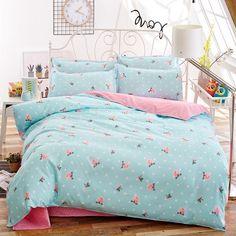 Solstice Home Textile Fashion Pastoral Style 4 Pcs Bedding Set Bed Sheet+duvet Cover+pillowcase Cloud Bed Cover Bedlinens 5 Size