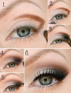 brown smoky eye makeup for blue eyes