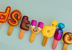 I love food! by jonathan ball / pokedstudio, via Behance