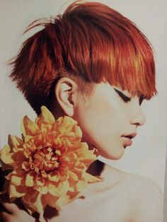 Nude Very Short Story from the July 2013 issue of Tomotomo. Stylish Haircuts, Modern Hairstyles, Creative Hairstyles, Short Hairstyles For Women, Cool Hairstyles, Short Hair Cuts, Short Hair Styles, Japanese Haircut, Red Orange Hair