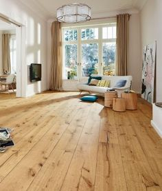 MEISTER Lindura Holzboden HD 300 Eiche Rustikal Gebürstet 8410  Landhausdiele 1 Stab Mit Fase Natur