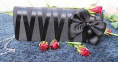 bag ...  bag, black, bow, bud, elegant, gift, love, party, rose, roses, spines