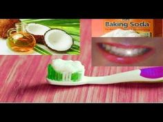 This is a really simple recipe for homemade coconut oil-baking soda toothpaste use the unrefined virgin coconut oil(↓↓PLEASE click show more ↓↓) ------------. Homemade Coconut Oil, Baking With Coconut Oil, Coconut Oil For Teeth, Benefits Of Coconut Oil, Natural Teeth Whitening, Whitening Kit, Homemade Toothpaste, White Teeth, Coconut Oil