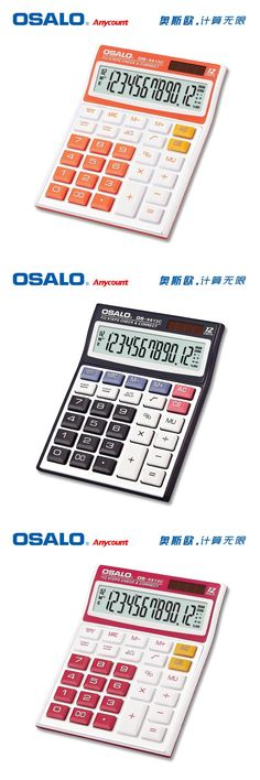 [Visit to Buy] Colorful Office Electronic Calculator OS-9813 Dual Power Solar & Battery Powered Desktop Calculadora Big Buttons Calculating #Advertisement